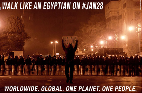 Walk Like An Egyptian on #jan28 - Worldwide. Global. One Planet. One People.