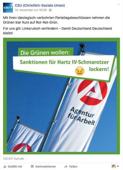Die Grünen wollen: Sanktionen für Hartz IV-Schmarotzer lockern!